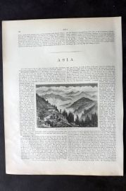 Blackie 1882 Antique Print. Snowy Range from the Neighbourhood of Simla India